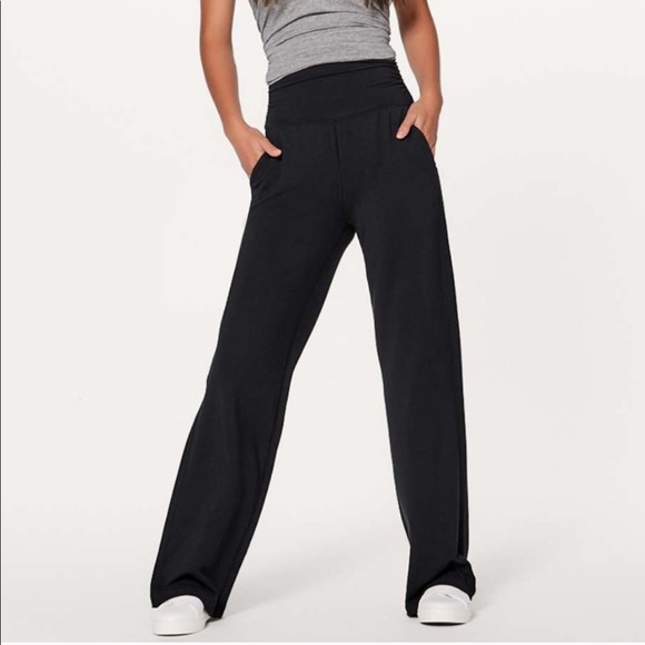 "5a57fc11a lululemon athletica Pants - Lululemon ""take it easy"" high waist pants size 8"